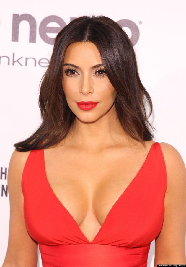 Kim Kardashian's Oscar Party Dress Is Not For The Faint Of Heart