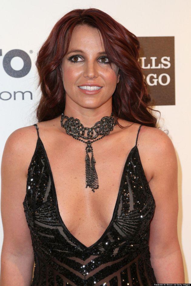 Britney Spears Brings Las Vegas To Elton John Oscar Party