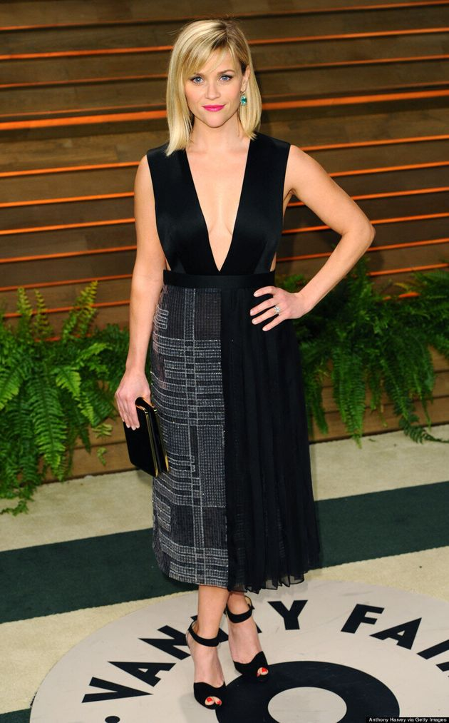 Reese Witherspoon's Vanity Fair Oscar Party Dress Is Eye-Popping