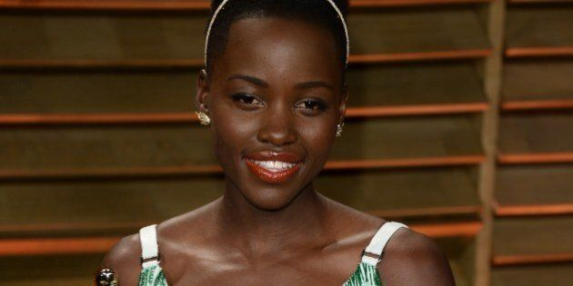 WEST HOLLYWOOD, CA - MARCH 02: Lupita Nyong'o arrives at the 2014 Vanity Fair Oscar Party Hosted By Graydon...