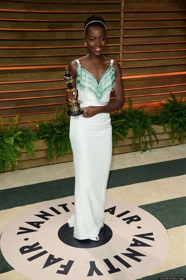 Lupita Nyong'o Wins The Vanity Fair Oscar Party With Gorgeous Dress