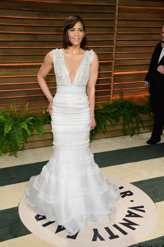 Paula Patton Stuns Without Robin Thicke At Vanity Fair Oscar