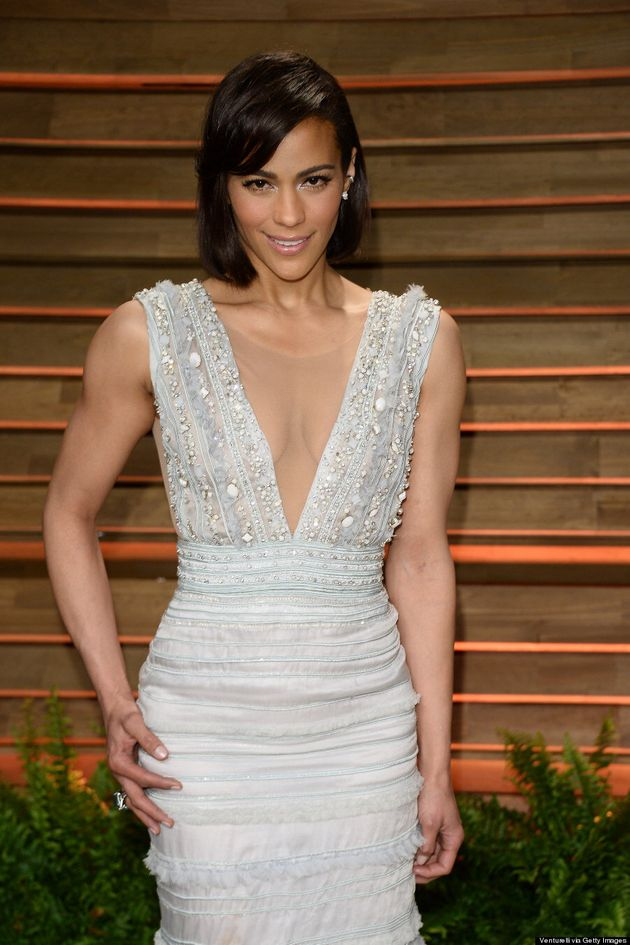 Paula Patton Stuns Without Robin Thicke At Vanity Fair Oscar