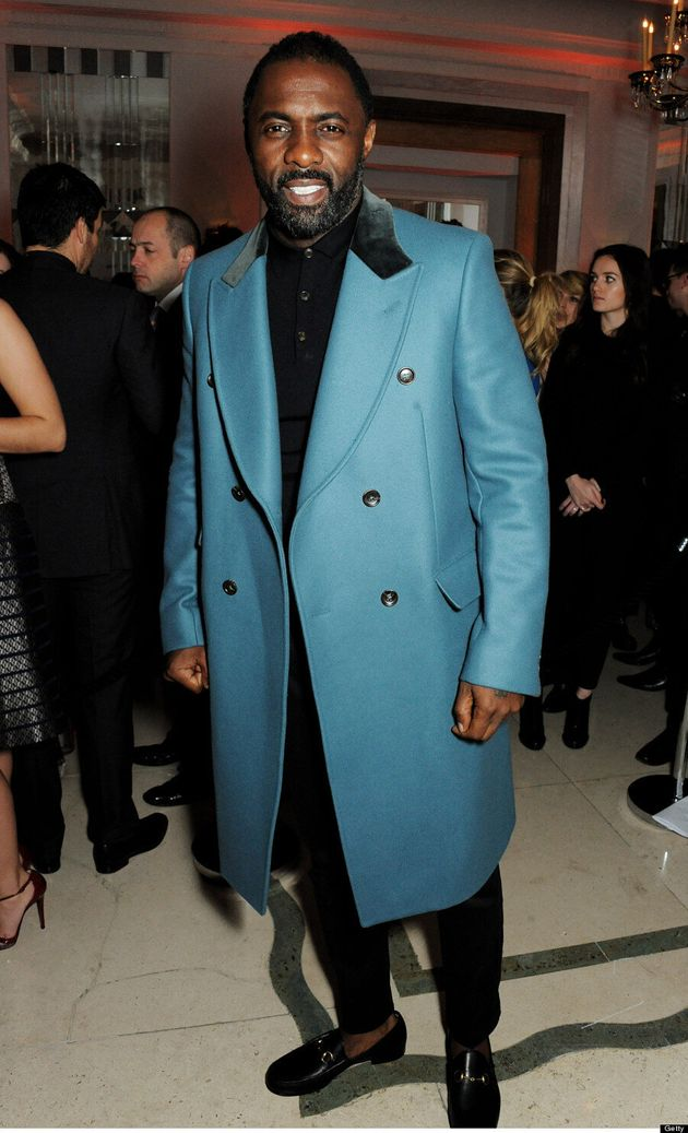 Idris Elba Looks Hot In A Blue Coat: 'Mandela' Star Puts Other Male Celebs To Shame