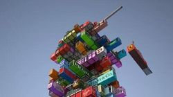 LOOK: 'Jenga' Shipping Container