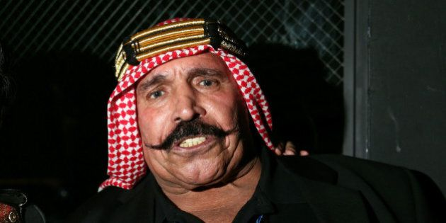 NEW YORK, NY - OCTOBER 23: Iron Sheik attends the 2013 GQ Gentlemen Give Back Concert with Robin Thicke...