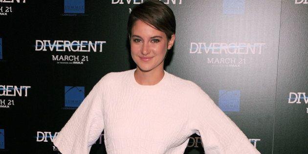 ATLANTA, GA - MARCH 03: Shailene Woodley the 'Divergent' screening at Regal Atlantic Station on March...