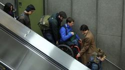 Justin Trudeau Carries Man In Wheelchair Down