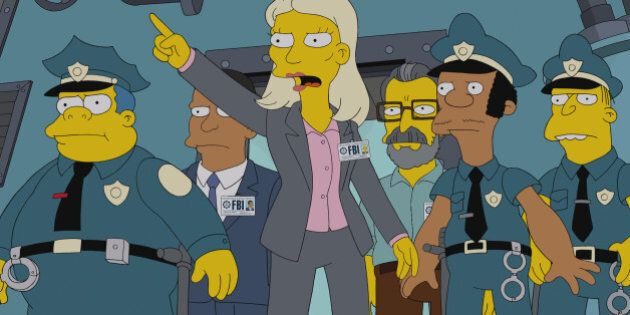 """THE SIMPSONS: Lisa suspects Homer may have been """"turned"""" when he returns from a Nuclear Power Plant Operating convention a changed man in the 'Homerland' 25th season premiere episode of THE SIMPSONS airing Sunday, Sept. 29, 2013 (8:00-8:30 PM ET/PT) on FOX. (Photo by FOX via Getty Images)"""