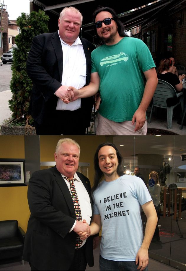 Matthew Wong's Weight Loss Photo Uses 'Rob Ford For Scale'