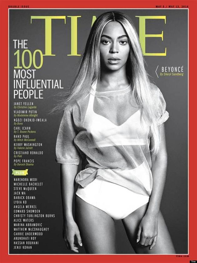 Beyoncé Covers TIME 100 Issue Wearing A Crop Top, Of