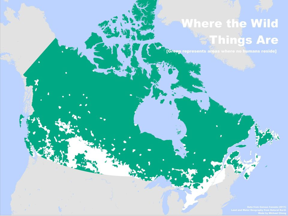 This Is How Empty Canada Really Is