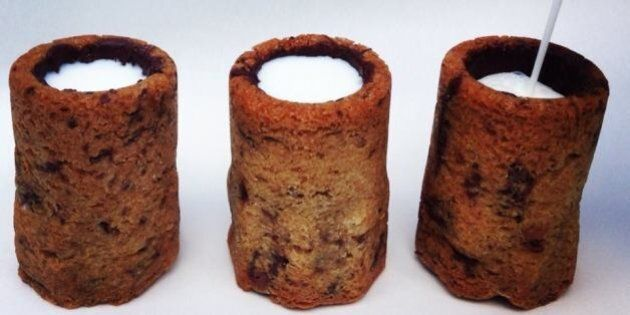 Chocolate Chip Cookie Shot Glass Marks Newest Invention By Dominique