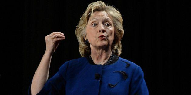 MIAMI, FL - FEBRUARY 26: Hillary Rodham Clinton speaks st the University of Miami at Bank United Center...