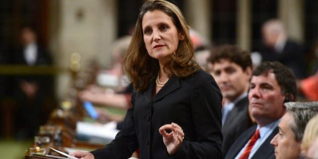 Chrystia Freeland: Canada Needs 'Hard Power' To Support Global