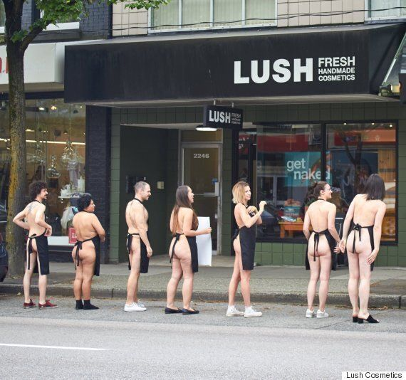 Lush Cosmetics Staff Stripped Down To Get Costumers To Reconsider Extra