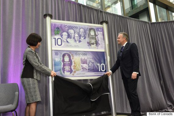 Canada Gets A New $10 Bill For Its 150th