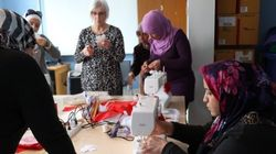 Syrian Women Say Thank You With Hand-Sewn Canadian