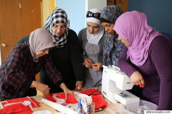 Syrian Women In Peterborough Say Thank You With Hand-Sewn Canadian