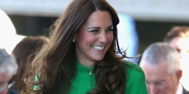CANBERRA, AUSTRALIA - APRIL 24:  Catherine, Duchess of Cambridge arrives at the Portrait Gallery on April 24, 2014 in Canberra, Australia. The Duke and Duchess of Cambridge are on a three-week tour of Australia and New Zealand, the first official trip overseas with their son, Prince George of Cambridge.  (Photo by Chris Jackson/Getty Images)