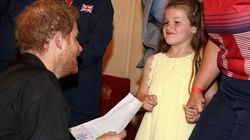 Adorable Little Girl Thanks Prince Harry For 'Helping Mummy' In