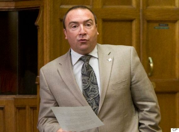 Conservative MP Bernard Généreux speaks in the House of Commons on Sept. 24,