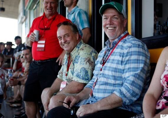 John Horgan, Andrew Weaver Watch Rugby Game Together, Claim They Didn't Talk