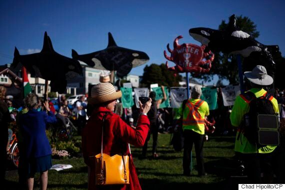 Trans Mountain Pipeline Protesters March 75 Km. To Burnaby,