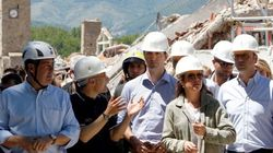Trudeaus Visit Earthquake-Devastated Town Of