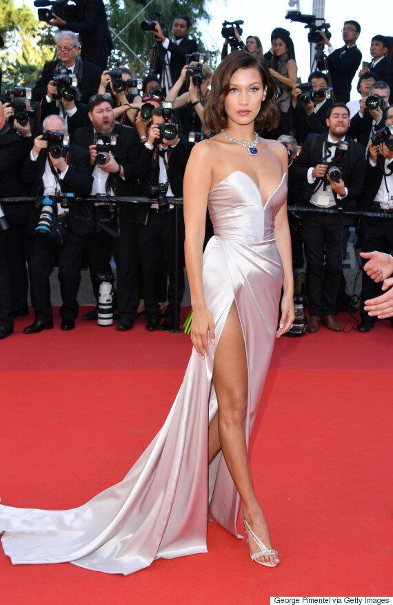 Bella Hadid Has The Fashion World Cheering With Ralph & Russo Gown At amfAR