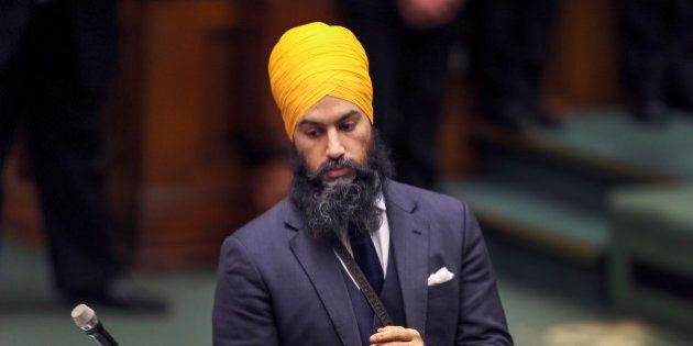 TORONTO, ON - FEBRUARY 21 - New Democratic Government and Consumer Services critic Jagmeet Singh during...