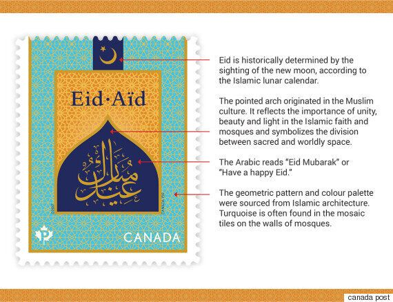 Canada Post Eid Stamp Issued To Recognize 2 Important Muslim