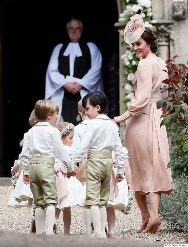 Duchess Of Cambridge Goes Demure At Pippa Middleton's