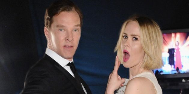 LOS ANGELES, CA - JANUARY 18: Actors Benedict Cumberbatch and Sarah Paulson attend the 20th Annual Screen...