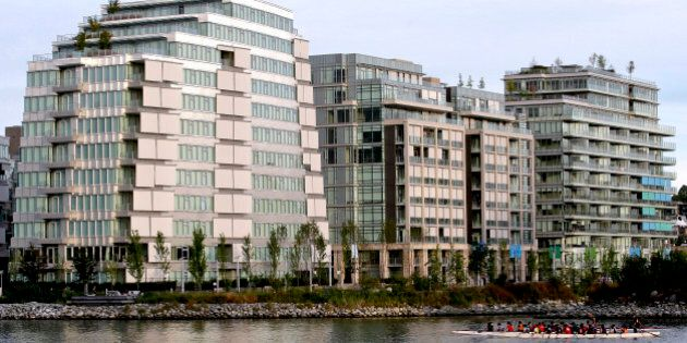 Buildings stand at the Millenium Water condominium complex, which was formerly the 2010 Winter Olympic...