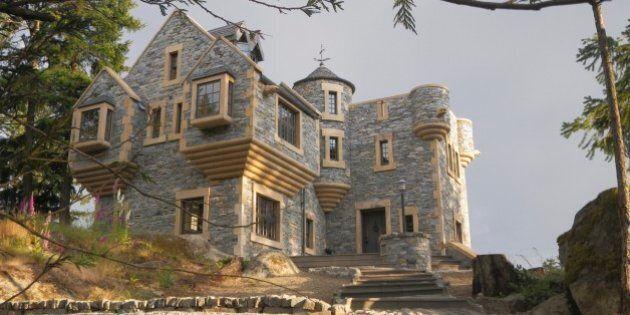 Salt Spring Island Home Modelled After Scottish Stone Tower Houses