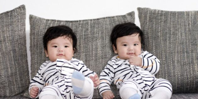 five months old asian