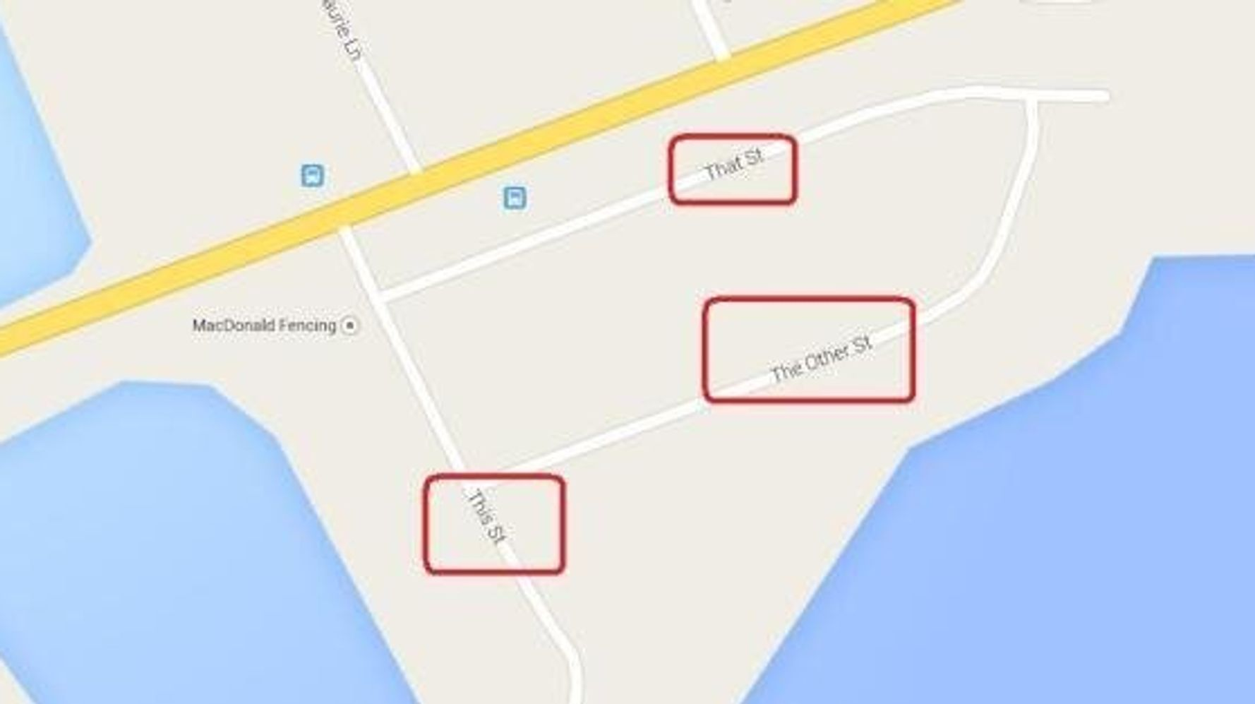 Most Confusing Street Names Ever?