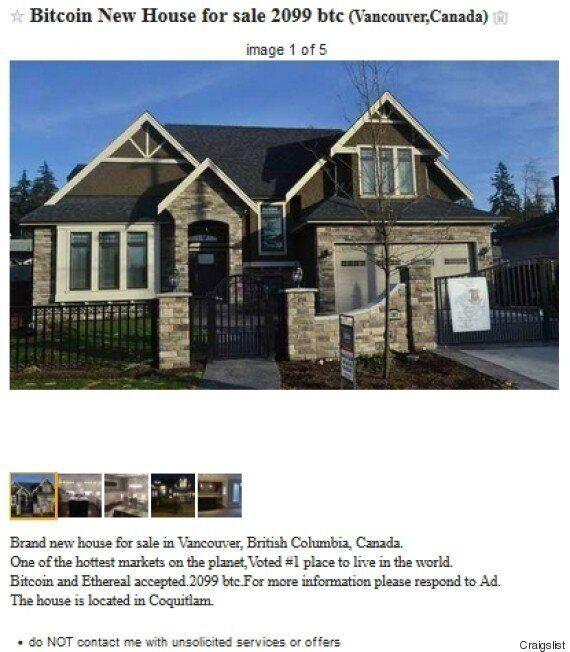 Vancouver House For Sale In Bitcoin A Sign Of Suspicious