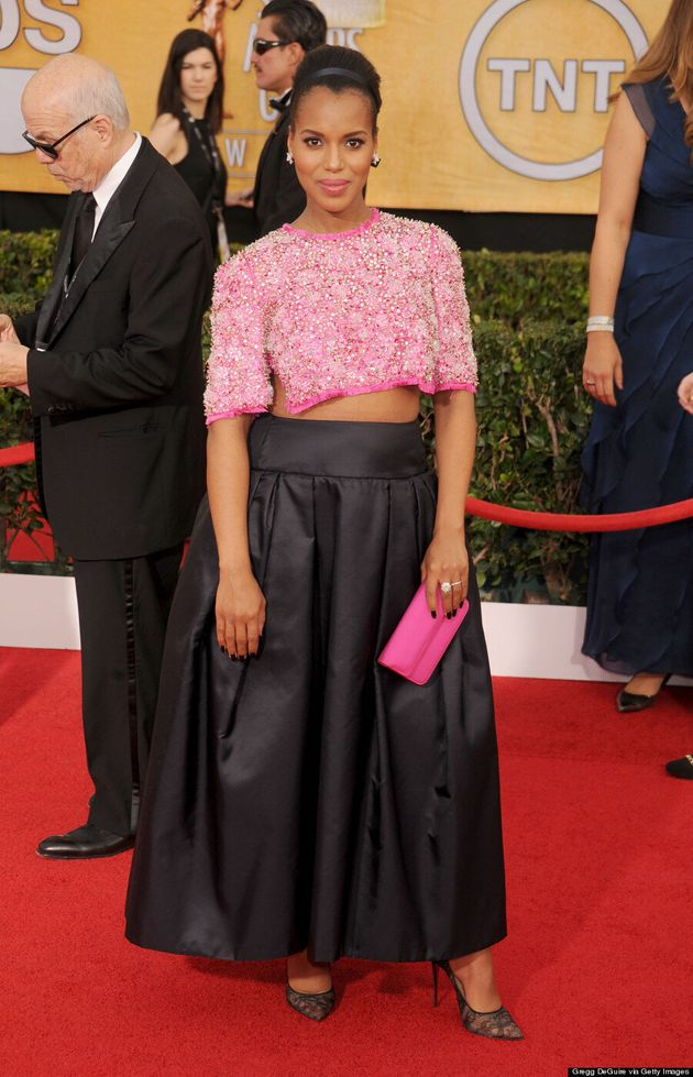 Kerry Washington's SAG Awards 2014 Crop Top Is The Coolest Maternity Wear Ever