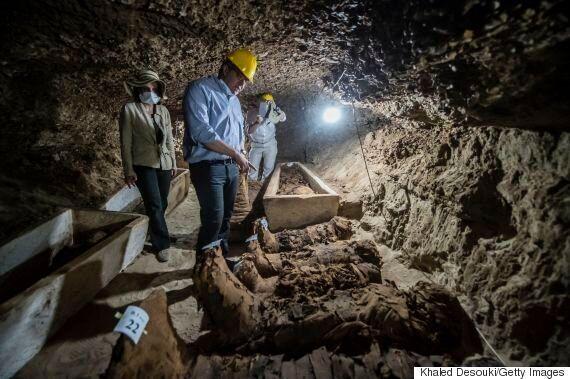 Mummies Discovered In Minya,