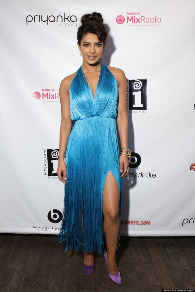 Priyanka Chopra Flaunts Her Legs In Sexy Fringe Dress