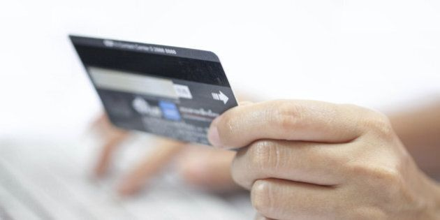 Using a credit card Online shopping