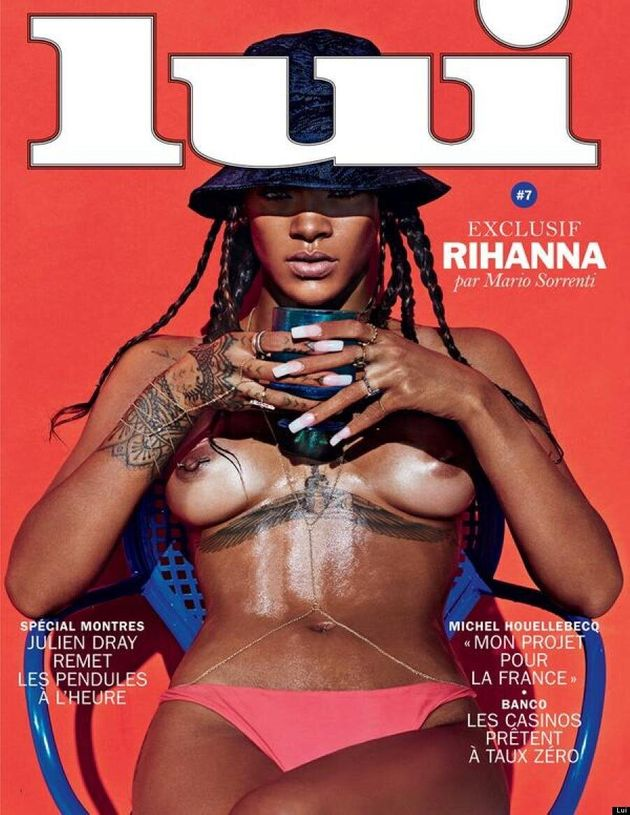 Rihanna Goes Completely Topless In NSFW Lui Magazine