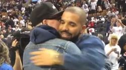 Drake, Gord Downie Share Most Canadian Hug Ever At Raptors