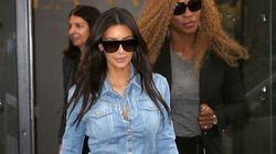 Kim Wears A Canadian Tuxedo In