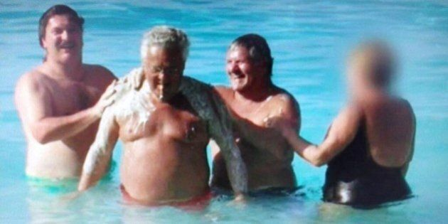 Photo Of Tony Accurso Rubbing Jean Lavallée's Back Is Too