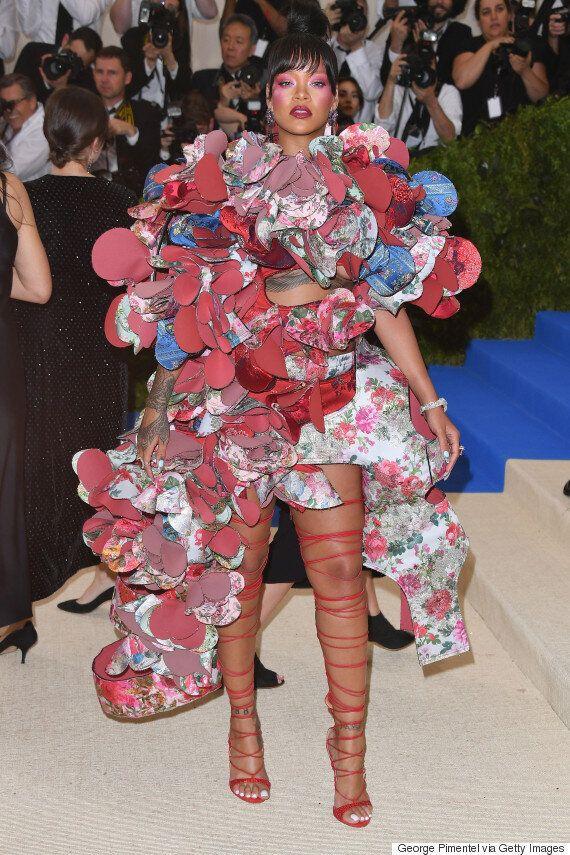 Rihanna Rocks Comme Des Garçons At 2017 Met Gala Honouring Rei