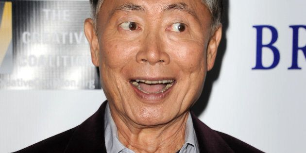 BEVERLY HILLS, CA - OCTOBER 15:  Actor George Takei attends the premiere of 'Bridegroom' at AMPAS Samuel Goldwyn Theater on October 15, 2013 in Beverly Hills, California.  (Photo by Jason LaVeris/FilmMagic)