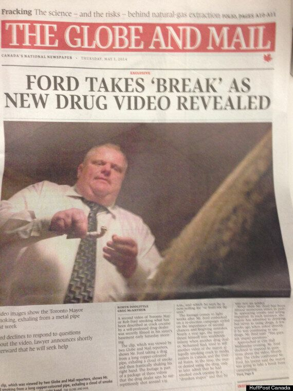 Toronto Sun's Rob Ford Front Page Perfectly Encapsulates The